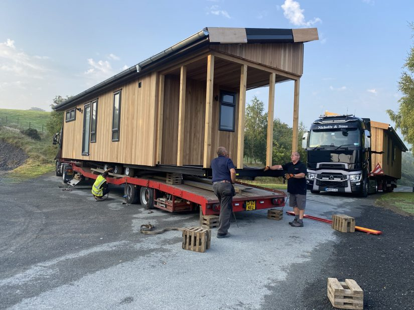 Arrival of lodges